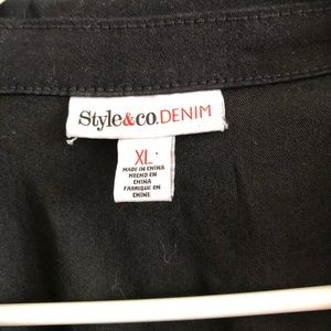Style & Co Jackets & Coats - Black jean jacket